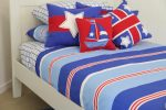 Nautical quilt cover & sheeting, Yacht, White Star & Four Star cushions