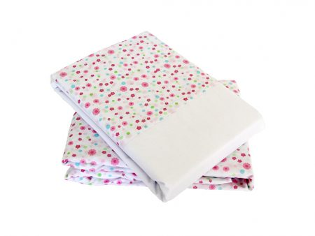 Victoria pink floral sheeting