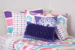 Lou Lou quilt cover, Purple Rosette and Snowflake cushions