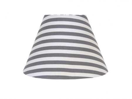 Tom grey/white stripe lampshade