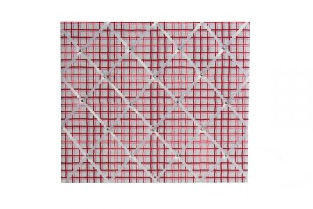 Zoe pink/red grid pinboard