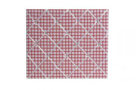 Zoe pink/red grid pinboard
