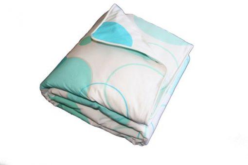 LOL aqua/white quilt cover