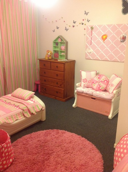 Alex loves her new room, it is such a beautiful place to go to sleep at night and play during the day