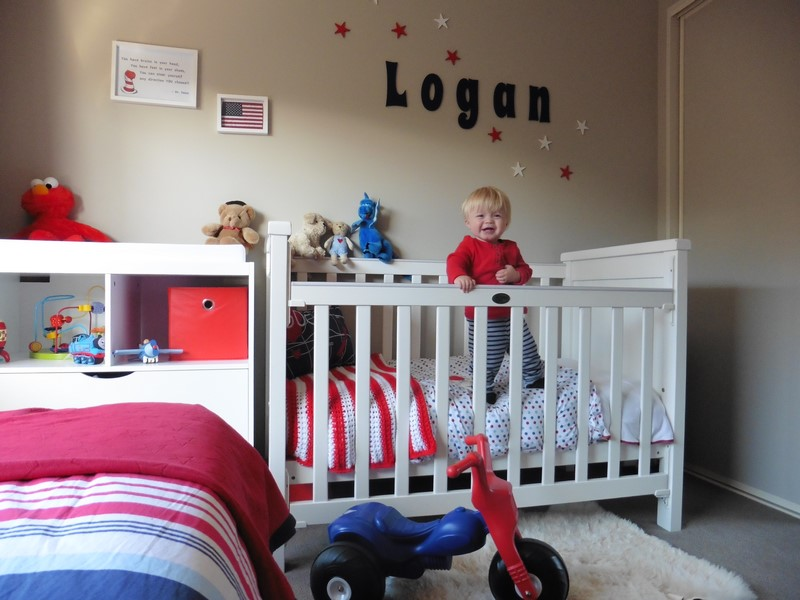 Logan loves his Patersonrose linen in his cot and on his big boys bed