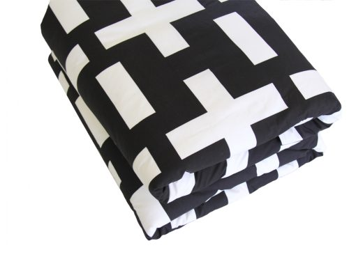 Harry back & white cotton quilt cover