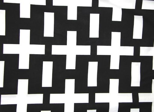 black and white boys geometric quilt cover / doona