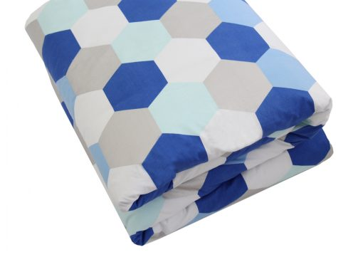 molly silver, aqua and blue quilt doona cover