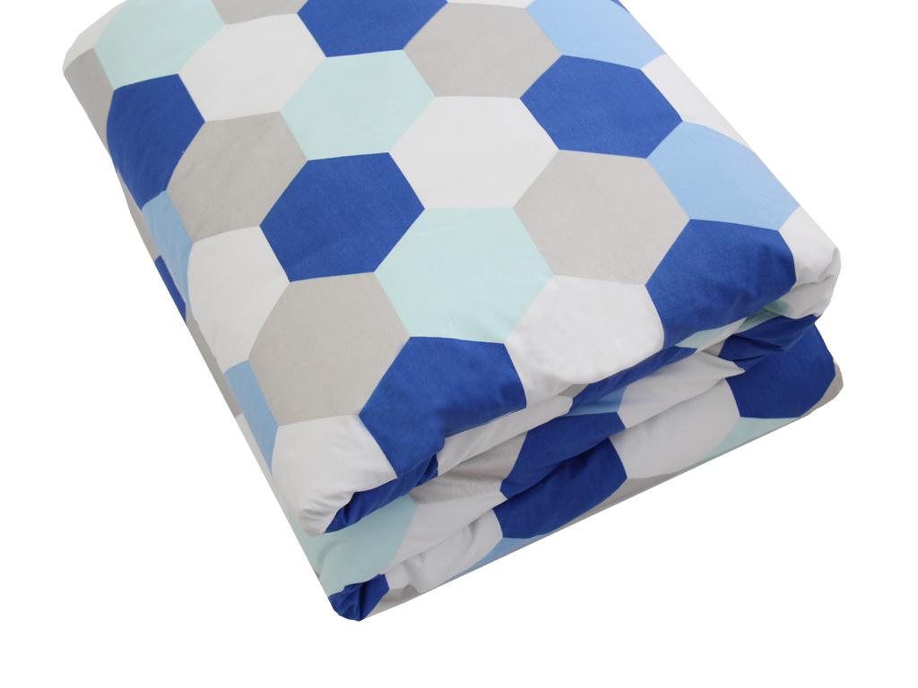 molly silver, aqua and blue quilt doona cover