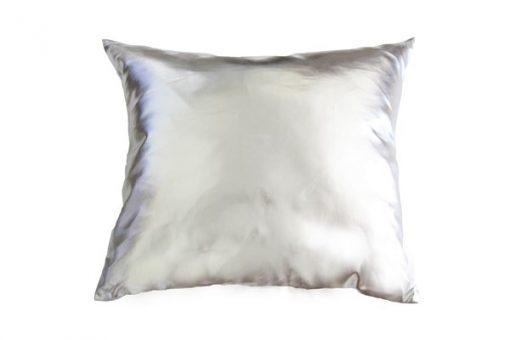 Square silver cushion