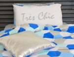 Molly quilt cover with Tres Chic pillowcase & Silver Bling cushion