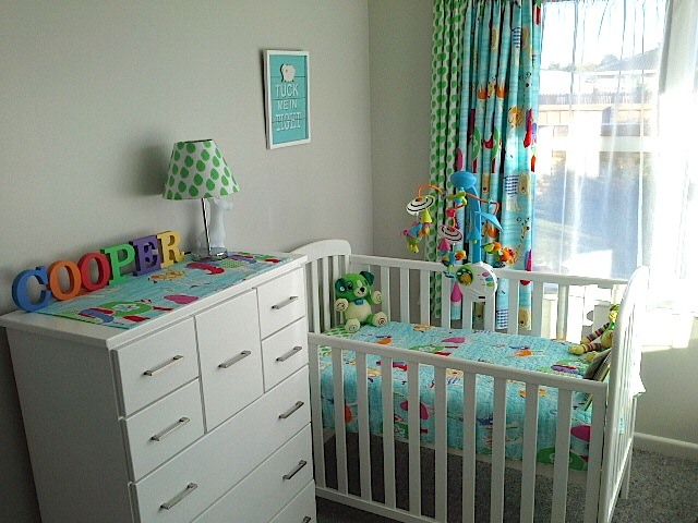 Megan Popes winning entry, with Coopers room featuring Hugos Herd linen