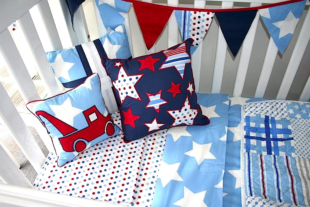 Wills Star quilt cover, sheeting, cushions & bunting