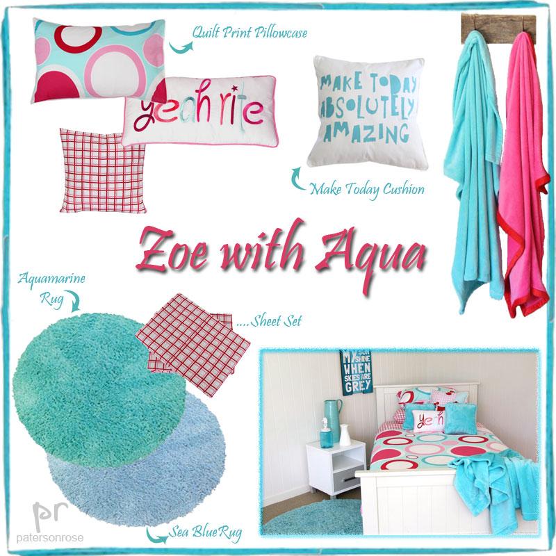 Zoe with Aqua