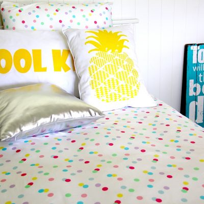 ashley pastel spots girls quilt cover / doona