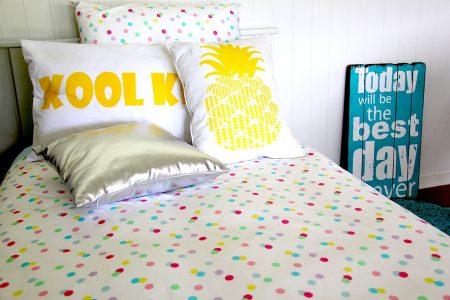 ashley pastel spots girls quilt cover / doona