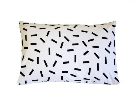 Jemima black and white 100% cotton pillowcase