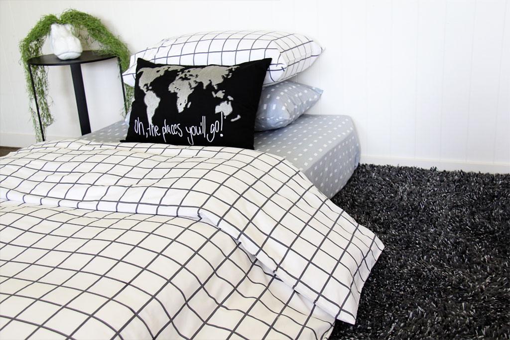 Charcoal Square Duvet Quilt Cover Set New Patersonrose