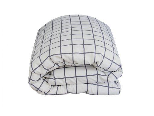 Charcoal Square Quilt Cover / Duvet Set