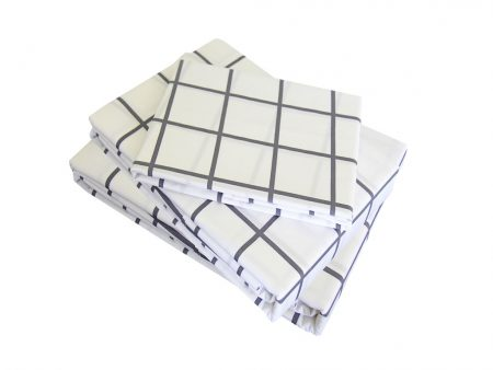Charcoal Square Sheet Set