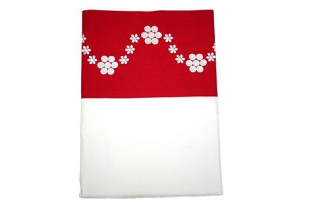 Daisy red and white top / flat sheet