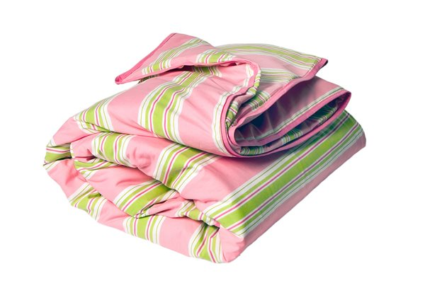 emma pink & green quilt cover