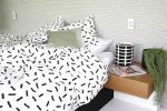 Jemima black & white girls quilt cover
