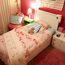 olivia floral pink girls quilt cover / doona