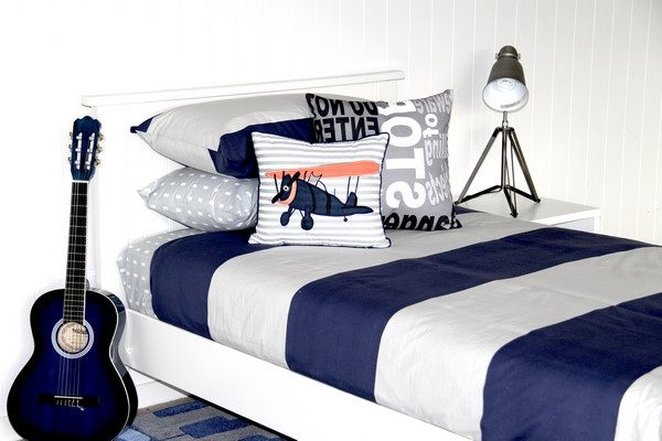 George Blue & grey boys quilt cover