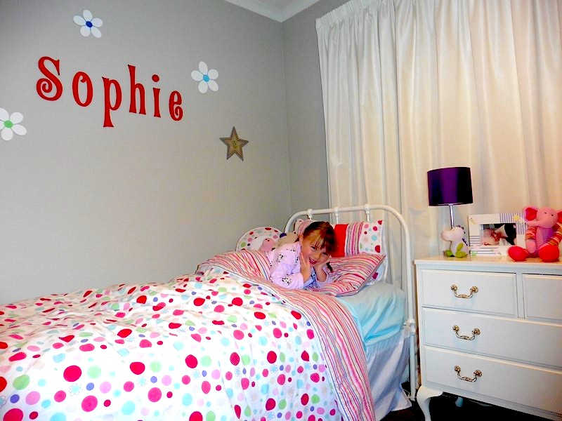Lucy spotted girls quilt cover / doona