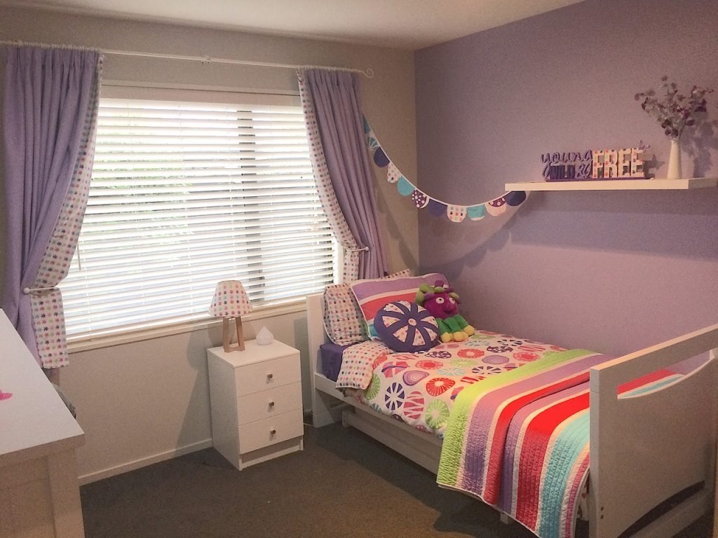multi coloured girls quilt cover, girls room & girls bedding