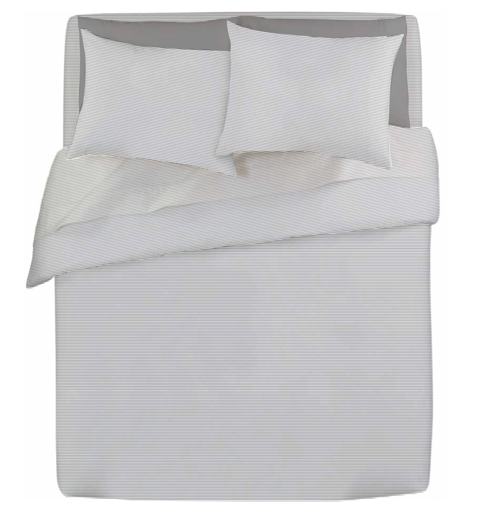 gus grey and white stripe duvet cover and sheet set