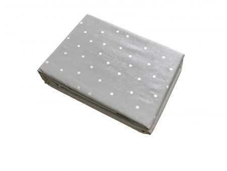 Hannah soft blue with white spots girls fitted sheet