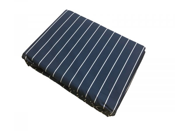 Navy and white stripped fitted sheet