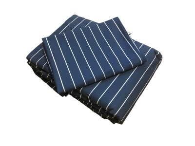 Navy and white stripped sheeting