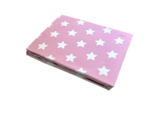 rosa pink and white star girls fitted sheet