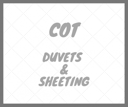 Cot duvets and sheeting