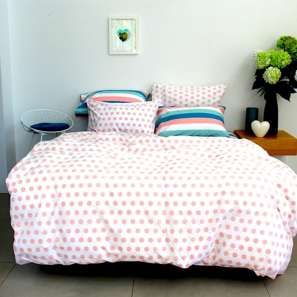 annabel blush pink spot duvet cover