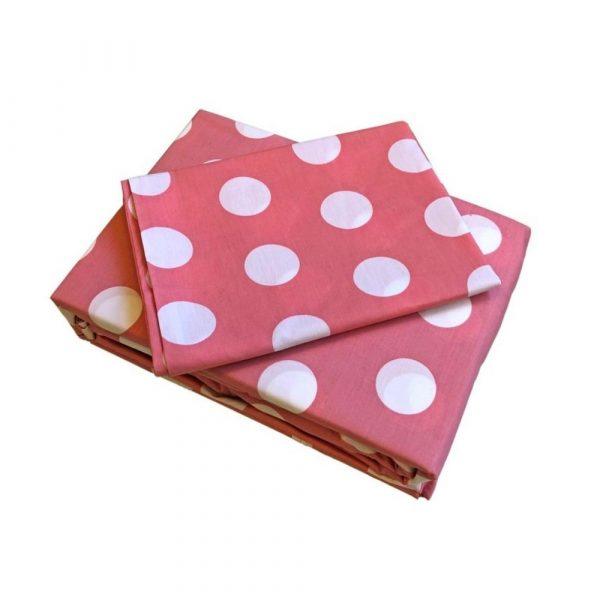 Belle, blush pink spot, girls teenage sheet set bed linen