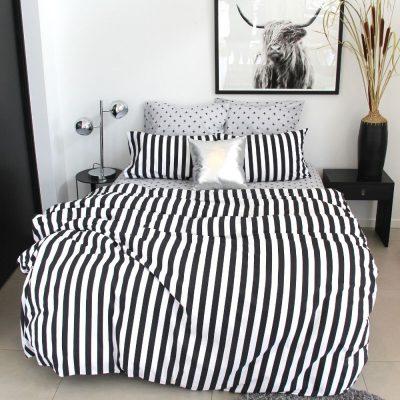 Black white teenage adult boys girls bedding